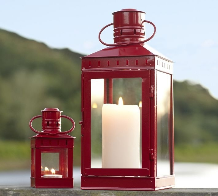 Inspiration about Red Lantern Candle Holders | Shapeyourminds With Regard To Red Outdoor Table Lanterns (#3 of 15)