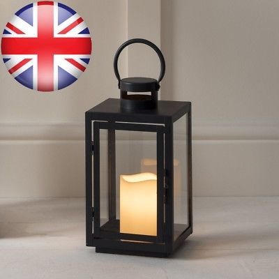Inspiration about Regular Black Metal Battery Operated Outdoor Led Candle Lantern With Regard To Outdoor Lanterns With Battery Operated Candles (#13 of 15)