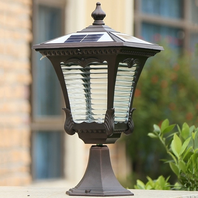 Inspiration about Retro Popular Solar Lights Waterproof Lanterns Headlights With Outdoor Pillar Lanterns (#4 of 15)