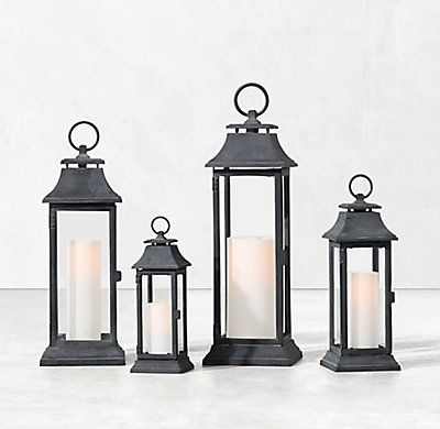 Inspiration about Rh's Savoy Lantern – Weathered Zinc:inspiredearly 18Th Century Pertaining To Italian Outdoor Lanterns (#11 of 15)