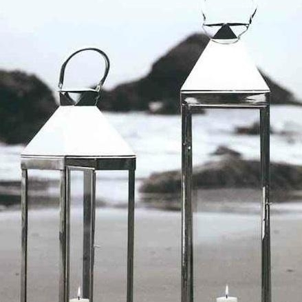 Roost Jumbo Nickel Candle Lanterns Within Jumbo Outdoor Lanterns (View 15 of 15)