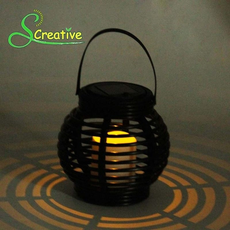 Inspiration about Round Rattan Solar Garden Lights Outdoor Lanterns Led Landscape Lamp Intended For Outdoor Round Lanterns (#9 of 15)
