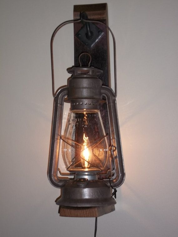 Inspiration about Rustic Cabin Lighting. Electric Lantern Wall Fixture From Pertaining To Rustic Outdoor Electric Lanterns (#2 of 15)