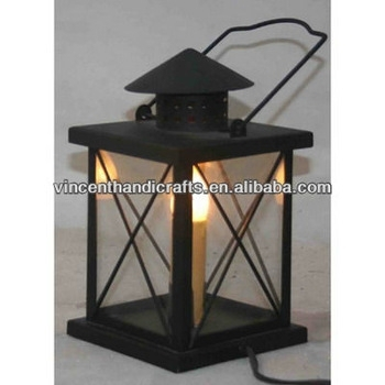 Inspiration about Rustic Classic Black Metal Hurricane Lantern With Electric Candle With Regard To Rustic Outdoor Electric Lanterns (#6 of 15)