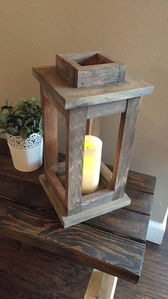 Inspiration about Rustic Lantern, Outdoor Lantern, Rustic Reclaimed Wood Lantern With Regard To Outdoor Wood Lanterns (#1 of 15)