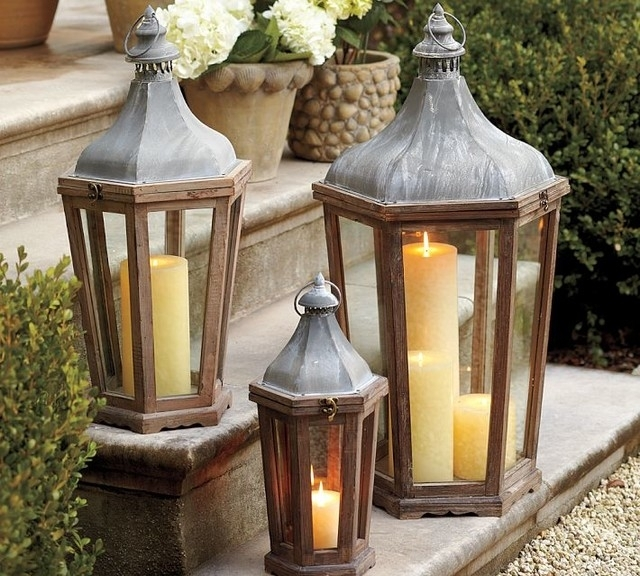 Rustic Outdoor Lanterns Outdoor Candle Lantern Lights Outdoor Candle Throughout Outdoor Lanterns (View 2 of 15)