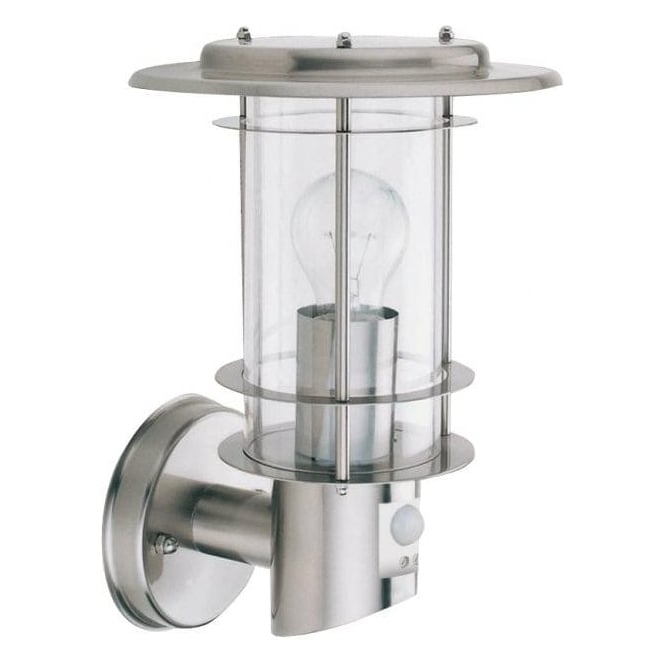 Searchlight Lighting Modern Stainless Steel Outdoor Light With Pir Pertaining To Outdoor Pir Lanterns (#13 of 15)