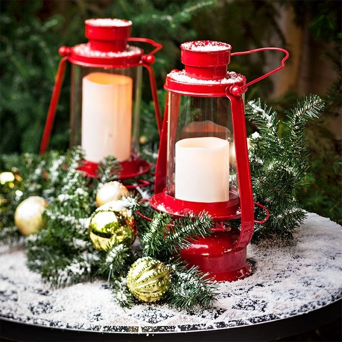 Set An Outdoor Table With Bright Candle Lit Lanterns (#14 of 15)