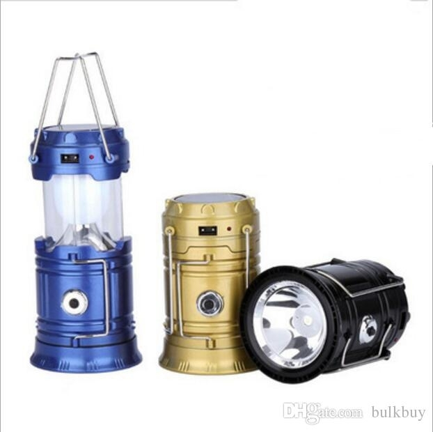 Sh 5800T Portable Led Flashlight Solar Camping Lantern 6Leds Within Outdoor Rechargeable Lanterns (#9 of 15)