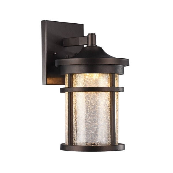 Shop Chloe Transitional 1 Light Oil Rubbed Bronze Led Outdoor Wall For Outdoor Bronze Lanterns (View 8 of 15)