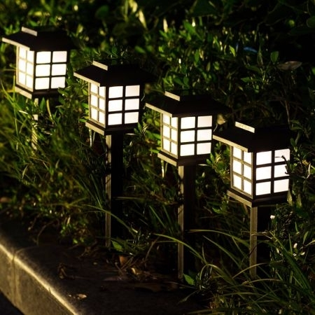 Shop For Gigalumi Solar Pathway Lights Outdoor, Waterproof Outdoor With Regard To Outdoor Driveway Lanterns (View 7 of 15)