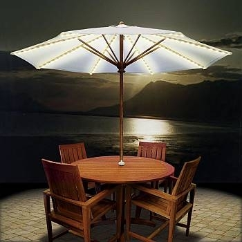 Shop Patio Umbrellas & Outdoor Market Umbrella – 100s Of Choices Throughout Outdoor Umbrella Lanterns (View 10 of 15)