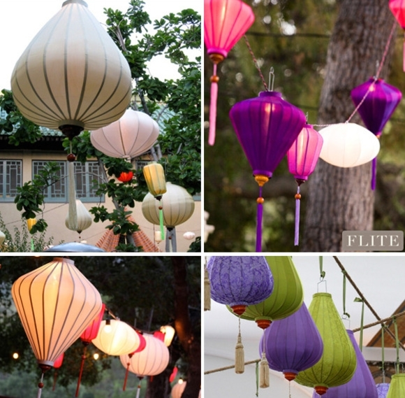 Silk Lanterns Elevate The Garden Party – At Home With Kim Vallee Regarding Outdoor Vietnamese Lanterns (View 7 of 15)