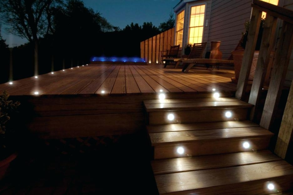 Solar Deck Rail Lighting Solar Powered Outdoor Lights Led Post With Outdoor Lanterns For Deck (View 13 of 15)