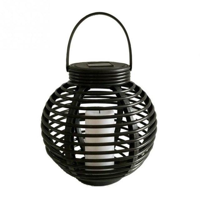 Solar Lantern Set Rattan Plasticteardrop And Round Waterproof Indoor With Regard To Outdoor Rattan Lanterns (#12 of 15)