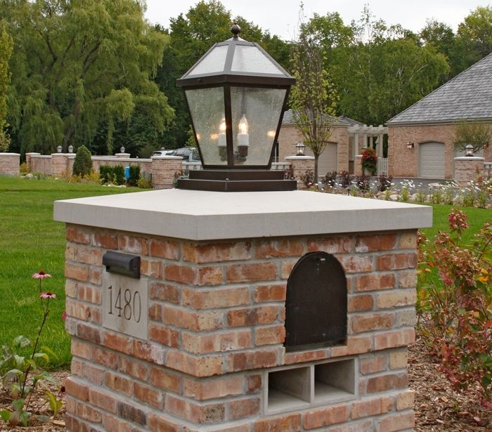Solar Lights For Brick Columns | Avianfarms For Outdoor Pillar Lanterns (#15 of 15)
