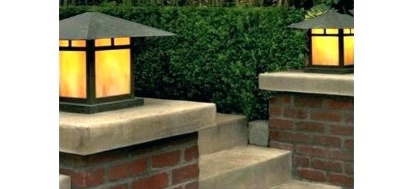 Solar Lights For Brick Columns Nonsensical Outdoor Pillar Mounted Inside Outdoor Pillar Lanterns (#14 of 15)