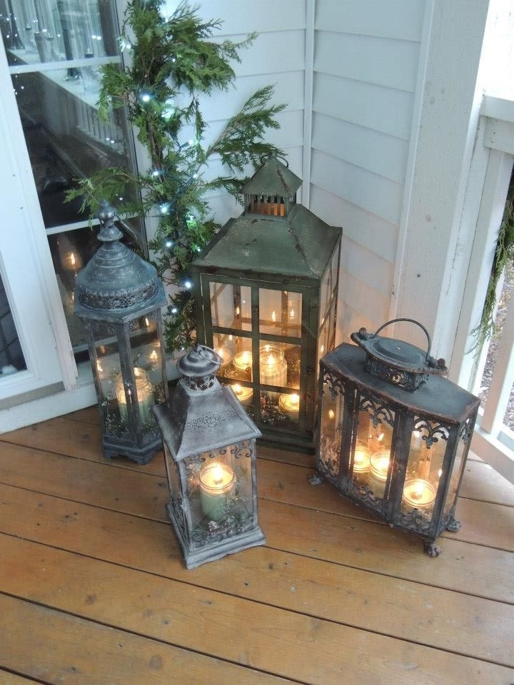 Solar Lights For Front Porch 615 Best Lanterns Candle Holders Images Inside Outdoor Lanterns For Front Porch (View 15 of 15)
