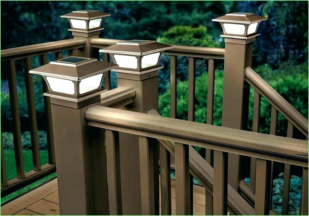 Solar Outdoor Light Posts Solar Lights For Deck Posts And Outdoor Intended For Outdoor Lanterns For Deck (View 15 of 15)