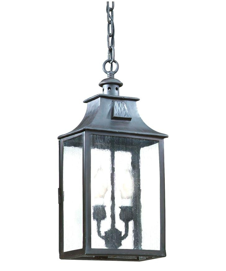 South Collection 1 Hanging Bronze Lantern Copper Electric In Large Outdoor Electric Lanterns (View 3 of 15)