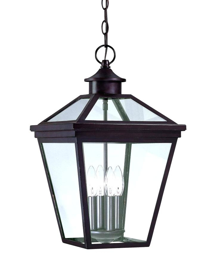 South Collection 1 Hanging Bronze Lantern Copper Electric Inside Large Outdoor Electric Lanterns (View 6 of 15)