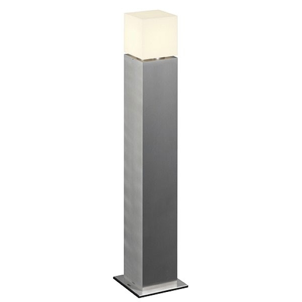 Square Pole 90 Outdoor Bollard Light Brushed Aluminiumslv With Outdoor Pole Lanterns (#15 of 15)