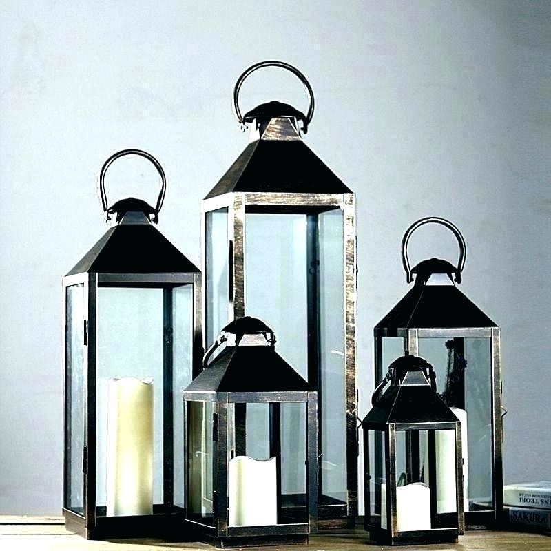 Standing Candle Holders Large Floor Candle Holders Floor Candle Pertaining To Outdoor Standing Lanterns (View 8 of 15)