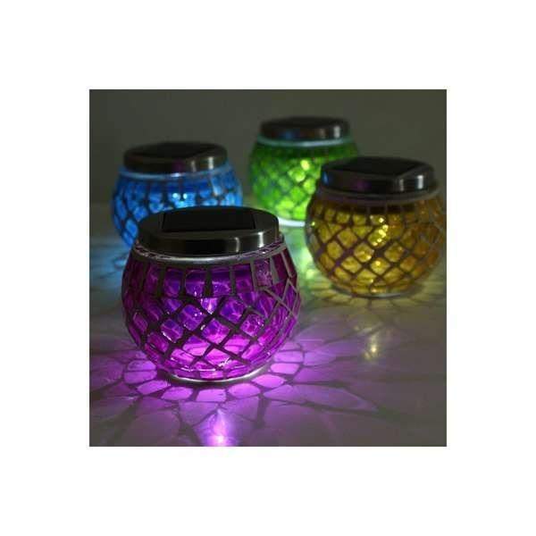 Sun Powered Mosaic Lamps | Outdoor Solar Lanterns, Solar And Mosaics With Regard To Outdoor Mosaic Lanterns (#13 of 15)