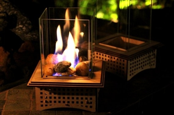 Tabletop Glass Fireplace This Indoor/outdoor Lantern Can Add | Etsy Inside Etsy Outdoor Lanterns (View 10 of 15)