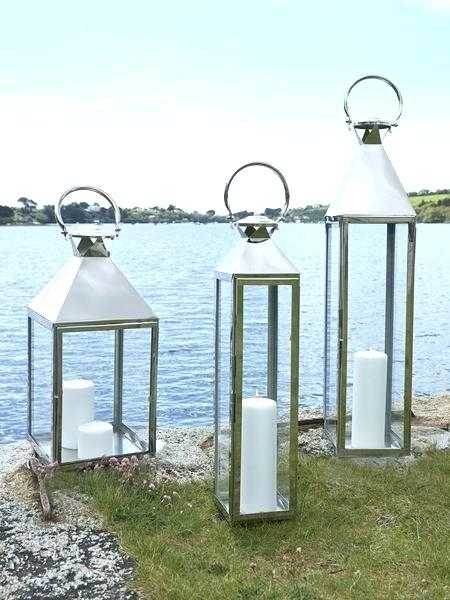 Inspiration about Tall Black Outdoor Lanterns. Tall Outdoor Decorative Lanterns Candle With Regard To Silver Outdoor Lanterns (#4 of 15)