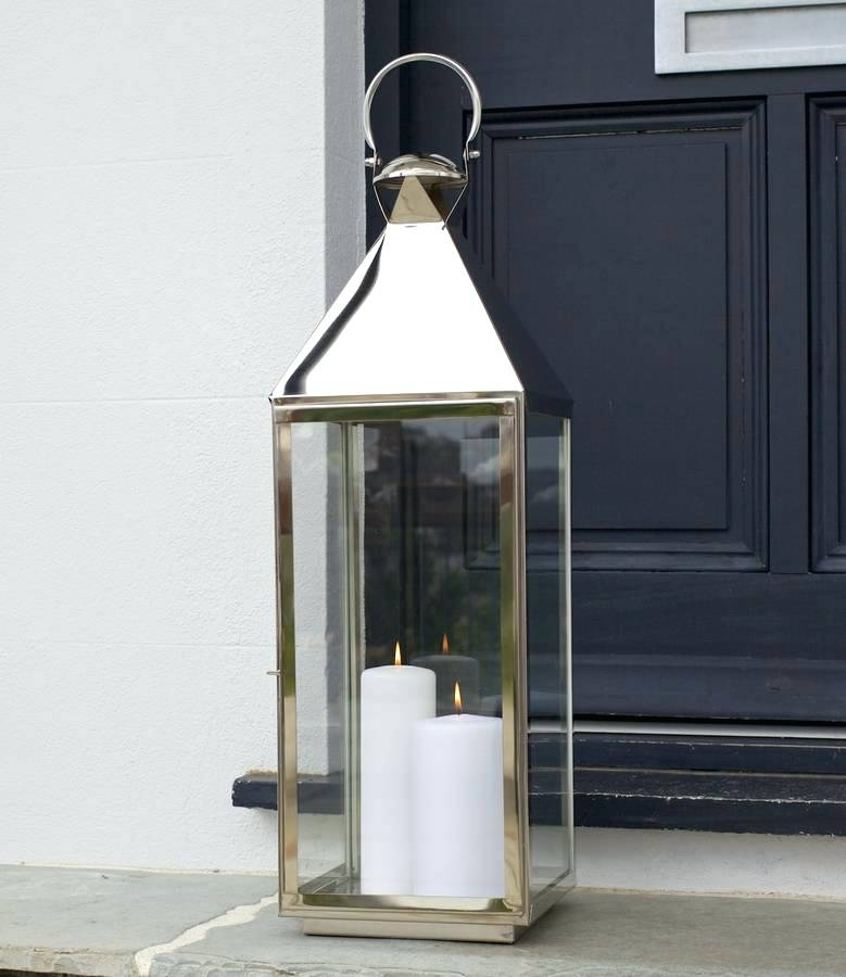 Inspiration about Tall Outdoor Lanterns Uk. Tall Outdoor Decorative Lanterns Exterior Inside Silver Outdoor Lanterns (#9 of 15)