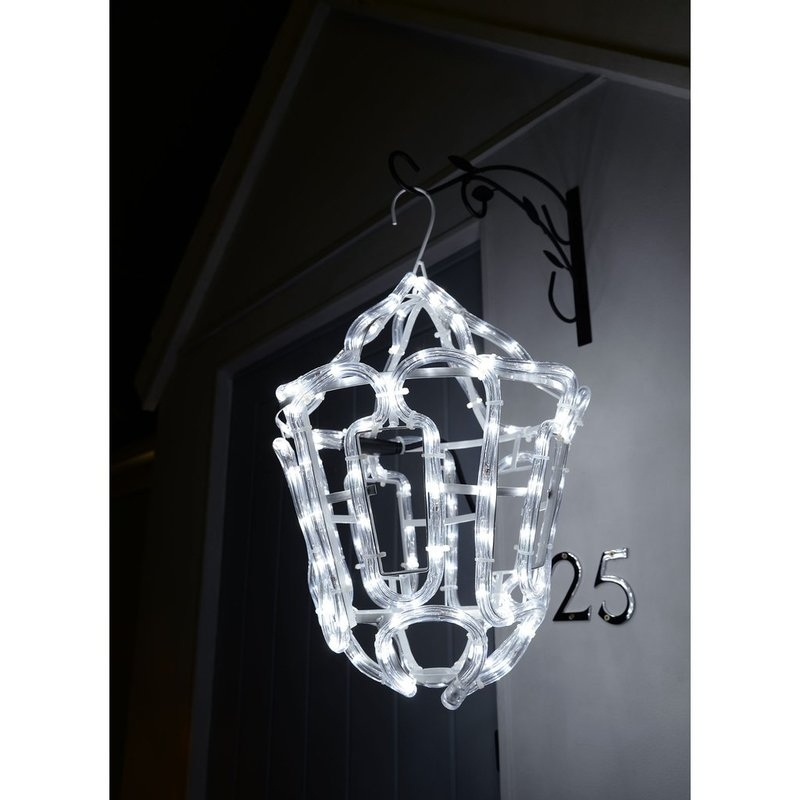 The Seasonal Aisle Christmas Hanging Lantern Outdoor Garden Wall Led Regarding Outdoor Christmas Rope Lanterns (#13 of 15)