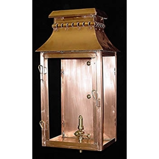 Inspiration about The Village Copper Gas Or Electric Wall Lantern – French Market Gas For Copper Outdoor Electric Lanterns (#15 of 15)