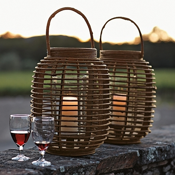 This Is Happiness: Serena & Lily Outdoors Within Outdoor Rattan Lanterns (#14 of 15)