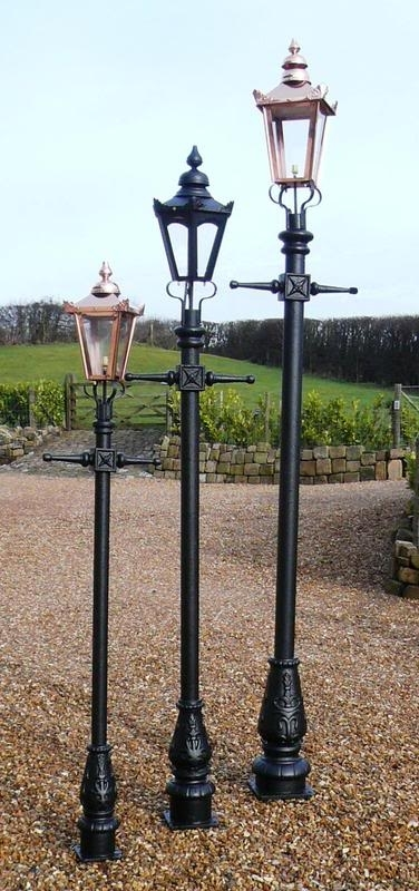 Traditional Antique Style Lantern & Cast Iron Lamp Posts Throughout Outdoor Cast Iron Lanterns (View 1 of 15)