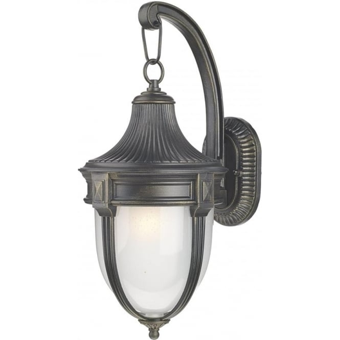 Inspiration about Traditional Black Garden Wall Lanterns With Gold Highlights, Ip44 For Victorian Outdoor Lanterns (#14 of 15)