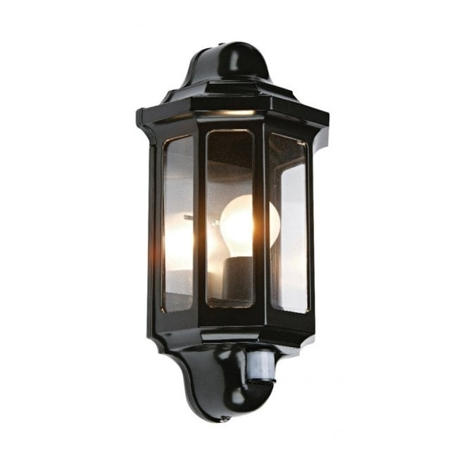 Traditional Garden Wall Light With Pir Motion Sensor, Great Security (#14 of 15)