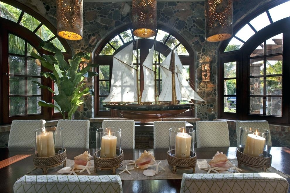 Tropical Outdoor Decorating Ideas Fantastic Outdoor Table Candle With Outdoor Dining Lanterns (View 10 of 15)