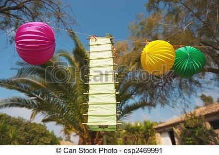 Inspiration about Tropical Party Outdoor In The Garden With Chinese Lanterns. With Regard To Outdoor Tropical Lanterns (#10 of 15)