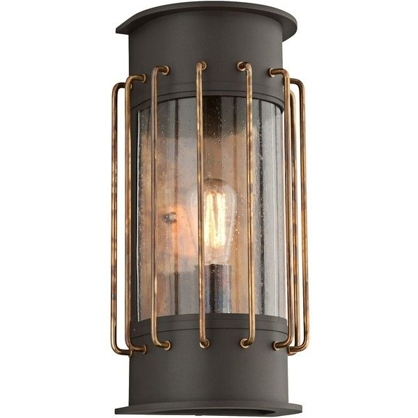 "Inspiration about Troy Cabot 17""h Bronze And Historic Brass Outdoor Wall Light ($378 Within Brass Outdoor Lanterns (#9 of 15)"