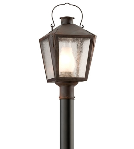 Troy Lighting P3764nr Nantucket 1 Light 21 Inch Charred Iron Outdoor Intended For Nantucket Outdoor Lanterns (View 11 of 15)