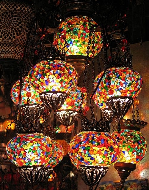 Inspiration about Turkish Glass Mosaic Lanterns Istanbul | Lighting : Indoor & Outdoor With Regard To Outdoor Mosaic Lanterns (#6 of 15)