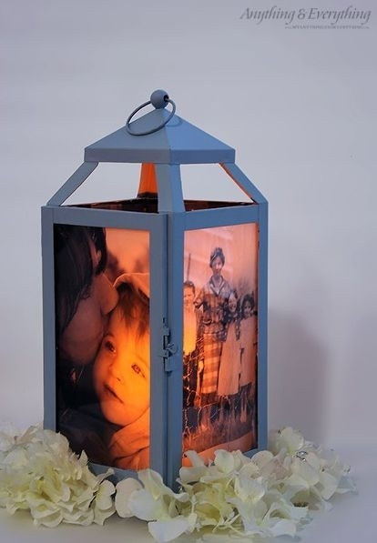 Turn A Cheap Lantern Into A Glowing Spot To Display Your Pictures With Regard To Outdoor Memorial Lanterns (View 3 of 15)