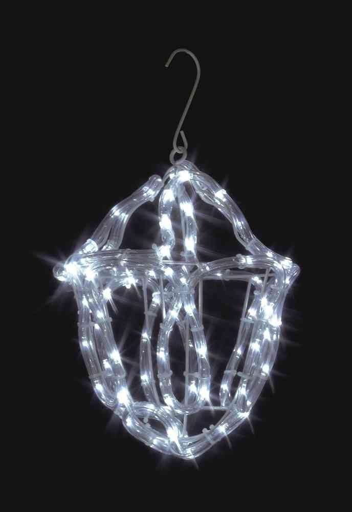 Uk Gardens Christmas Twinkling White Rope Light Lantern Indoor Or Pertaining To Outdoor Christmas Rope Lanterns (#14 of 15)