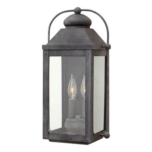Inspiration about Vanity Outdoor Lantern Sconce Of Hinkley Anchorage Aged Zinc Two Within Outdoor Lanterns And Sconces (#9 of 15)