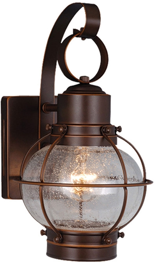 Inspiration about Vaxcel Ow21861Bbz Chatham Nautical Burnished Bronze Finish 7.25 For Outdoor Nautical Lanterns (#15 of 15)