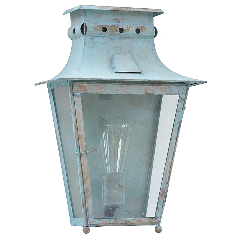 Vintage Brass Or Zinc Wall Light Megève – Terra Lumi Regarding Zinc Outdoor Lanterns (#10 of 15)