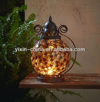 Inspiration about Vintage Yellow Glass Mosaic Hanging Lantern For Garden – Buy Mosaic With Regard To Outdoor Mosaic Lanterns (#2 of 15)