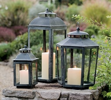 Weathered Zinc Garden Lanterns : Katy Elliott Throughout Zinc Outdoor Lanterns (#11 of 15)