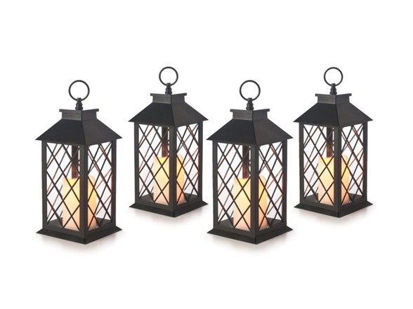 Westinghouse Flameless Candle Lantern 4Pk (4 Styles) Inside Outdoor Plastic Lanterns (#15 of 15)